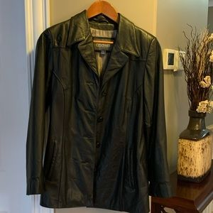 Wilsons Leather button black coat